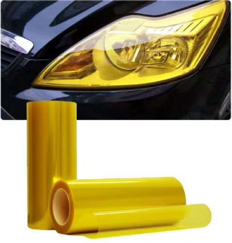 golden yellow headlight tint 30CM X 100CM